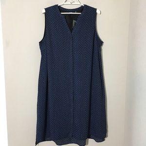 Apt. 9 Geometric Shirt Shift Dress Blue Sz 20W